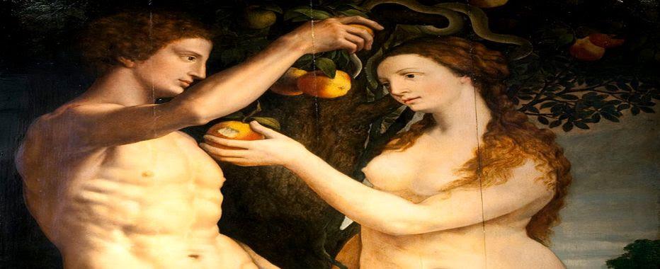 Adán y Eva de Frans Floris, 112 x 143 cm. Pintado hacia 1560, Malmö Konstmuseum.