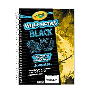 Crayola Wild Notes Black Journal