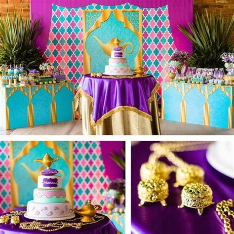 Cake   Cake Table from a Princess Jasmine Birthday Party