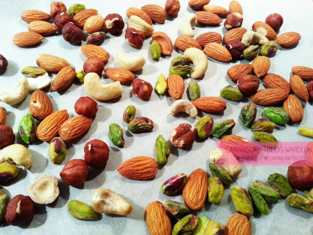 Nuts, ready to roast