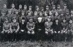 The Mufti in a group photo with Nazi allies