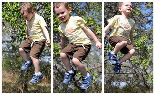 trampoline acrobat boy