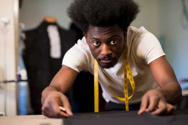 Aspiring designer Afriyie Poku learned everything he knows by altering his clothes to his liking.