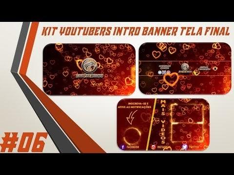 Kit Youtuber #06 Intro Banner Tela Final Para Youtubers