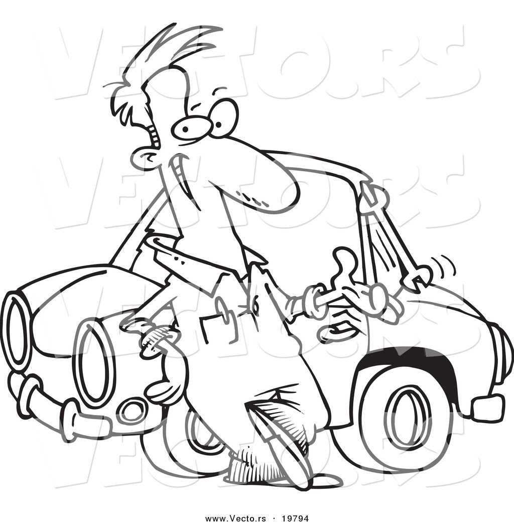 Vector of a Cartoon Male Auto Mechanic Tossing a Wrench ...