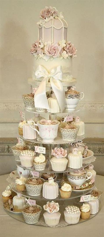 Wedding Cake Alternatives Cupcake Tower Vintage Inspired