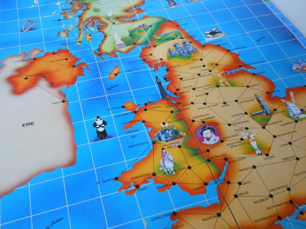 Race Around Britain game board