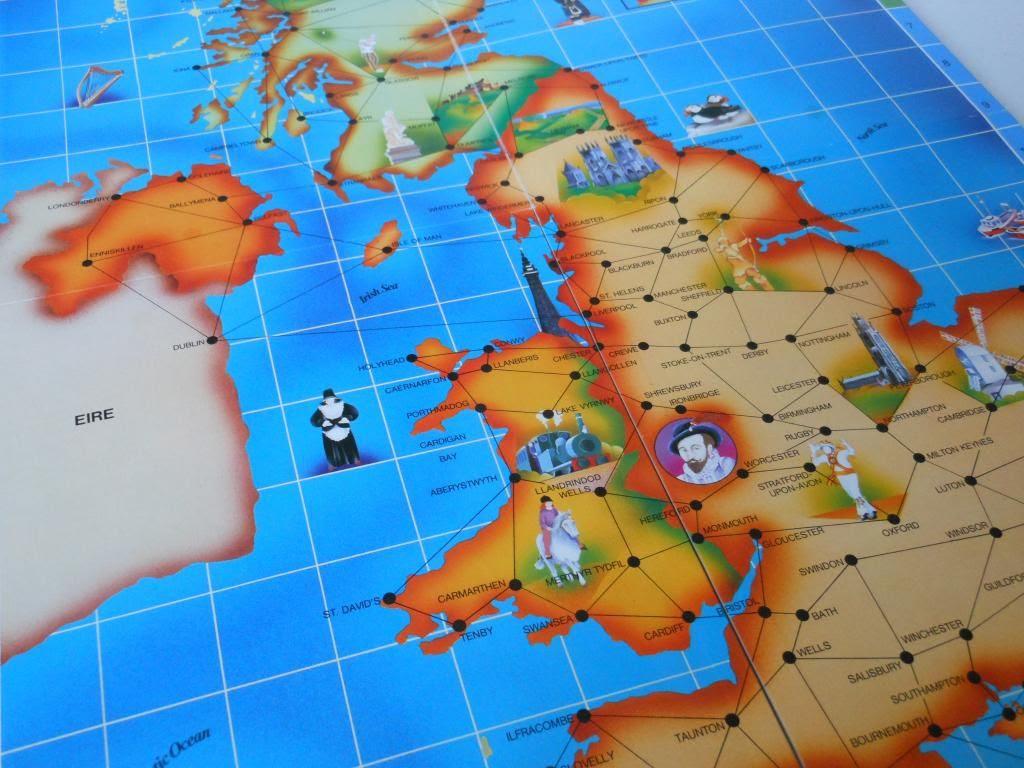 Race Around Britain game board