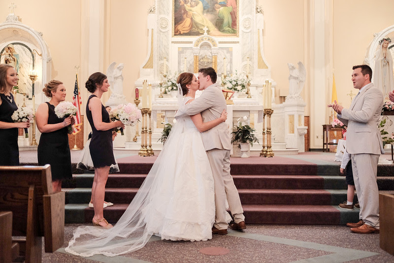 Morgan & John's wedding in downtown Galena at St. Mary's Catholic Church. – Wedding photographer; Ryan Davis Photography – Rockford, Illinois.
