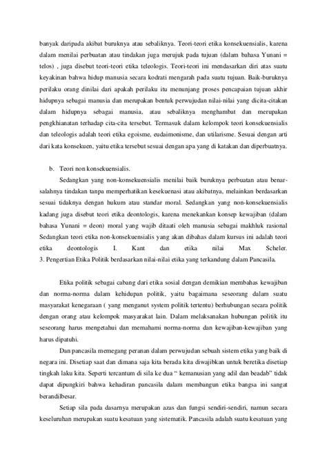 Contoh Etika Pancasila - Contoh Ups