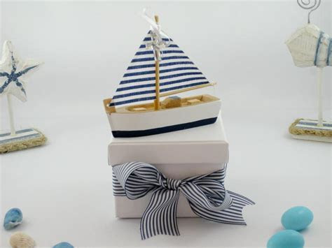 Nautical Sailboat Bomboniere Box   Vada Creations