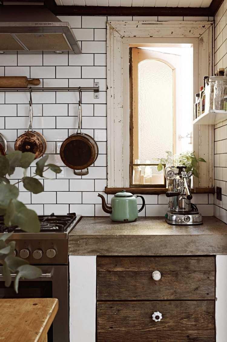 27 Küchen Ideen - rustikale Küche mit modernen Elementen