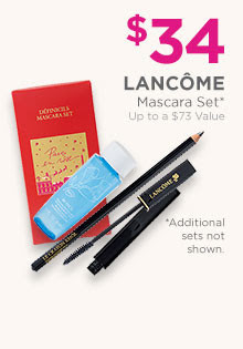 Lancome Definicils Mascara Set is $34, a $62 value, Hypnose Drama Set is $36, a $67 value, and Grandiose Set is $39, a $65.50 value.