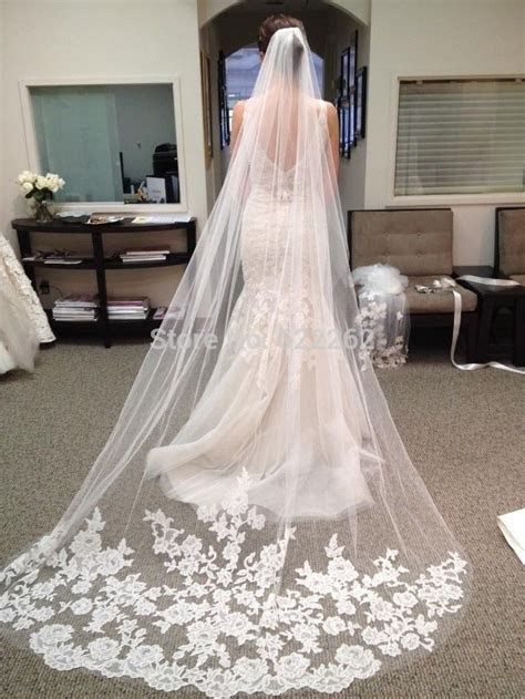 Online Buy Wholesale long lace wedding veil from China