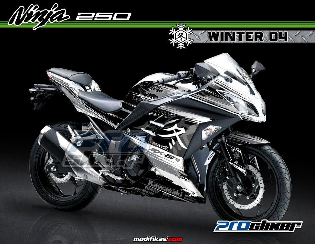 Baru Striping Decal Modifikasi Ninja 250 FI Full Body By