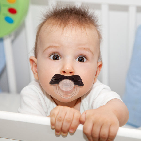 Baby Mustache Pacifier - the Ladies Man by Mustachifier