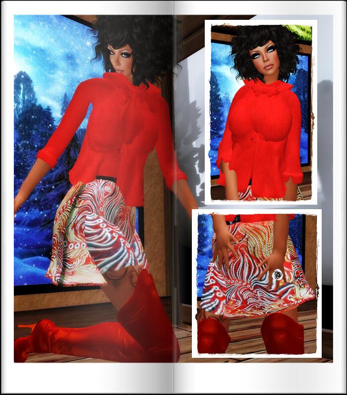 Mta-VeroModero Jacqueline Set Red Floral