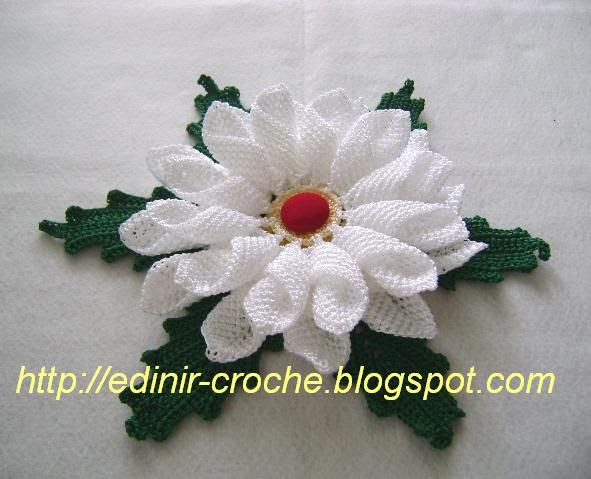 Crochet flower + video tutorial, chart