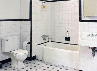 Bathroom Design Gallery on Black And White Tiled Bathroom   Black And White Bathroom Ideas