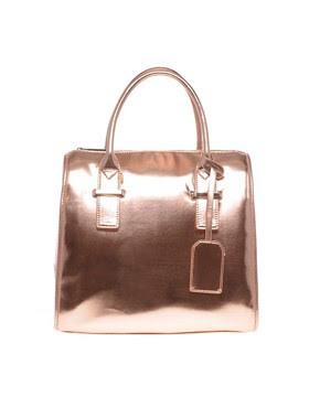 Image 1 ofASOS Metallic Oversized Bowler Bag