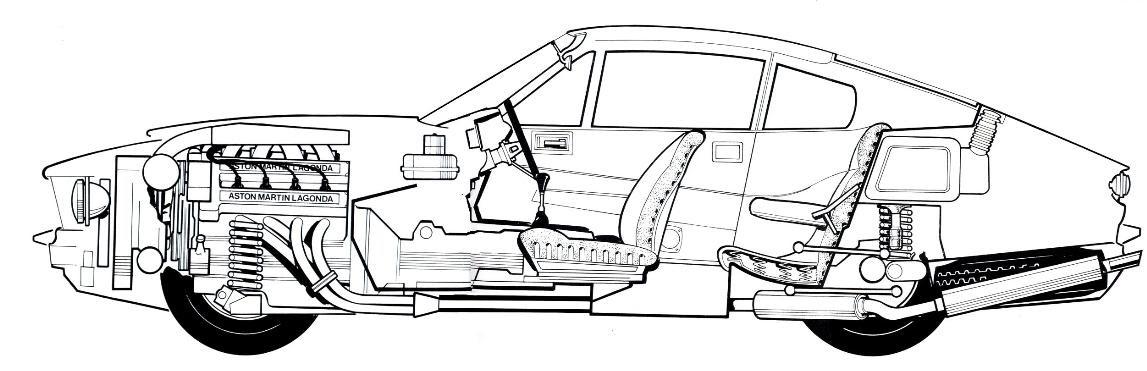 the amazo effect the cutaway diagram files aston martin v8. Black Bedroom Furniture Sets. Home Design Ideas