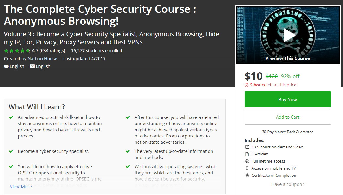 Nod32 2020 Key >> Udemy: The Complete Cyber Security Course : Volume 1,2,3,4 2017 - Aaobeche