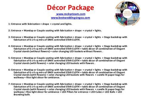Wedding and Events Rental and packages