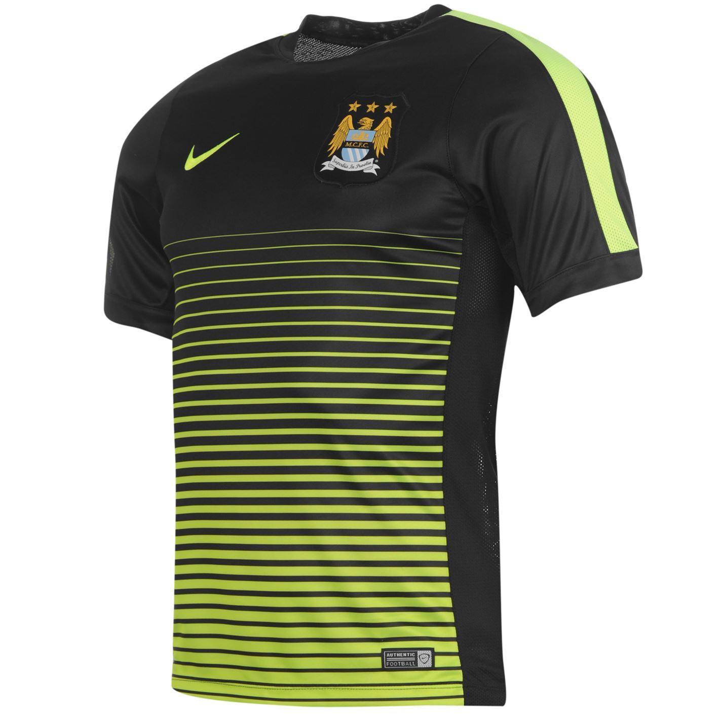 Nike Manchester City FC Pre Match Jersey Shirt Top Mens ...