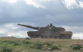 Un Leopard del 'Montesa' en el CENAD de San Gregorio