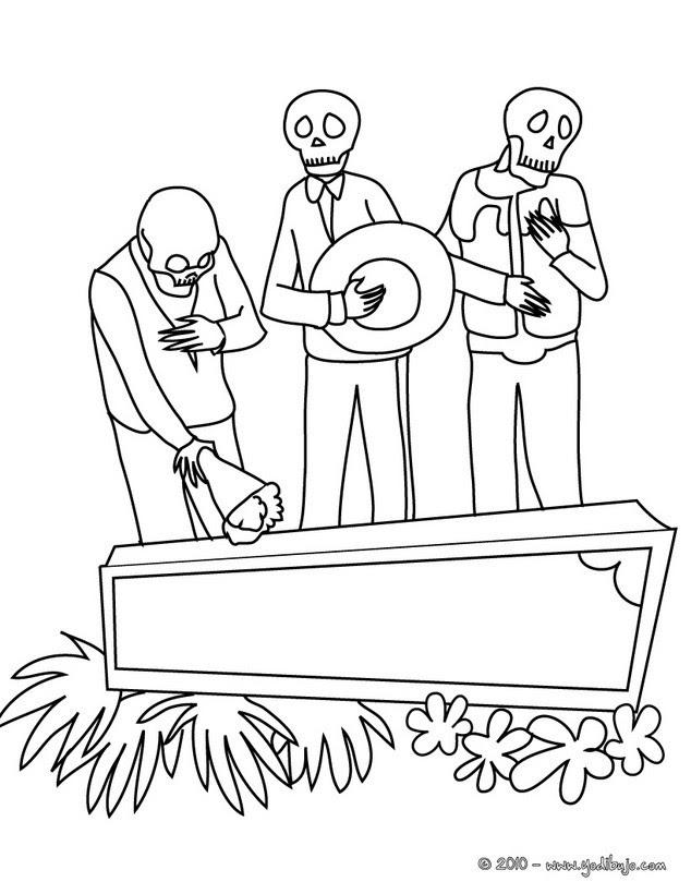 Dibujos Para Colorear Dia De Los Muertos Eshellokidscom