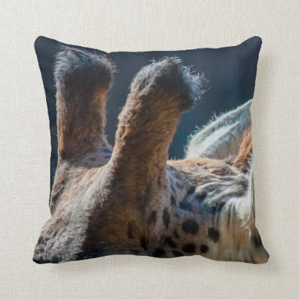 Giraffe 02 Digital Art - Pillow