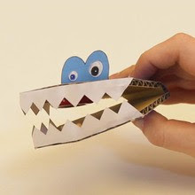 A Chattering Monster craft for kids