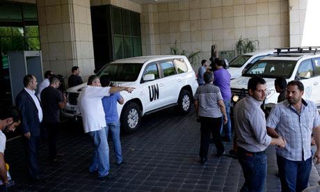 El alto representante de la ONU para asuntos de desarme llega en Damasco, Siria