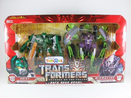Transformers Mixmaster RotF Voyager (G1 deco) + Hoist RotF Deluxe - caja