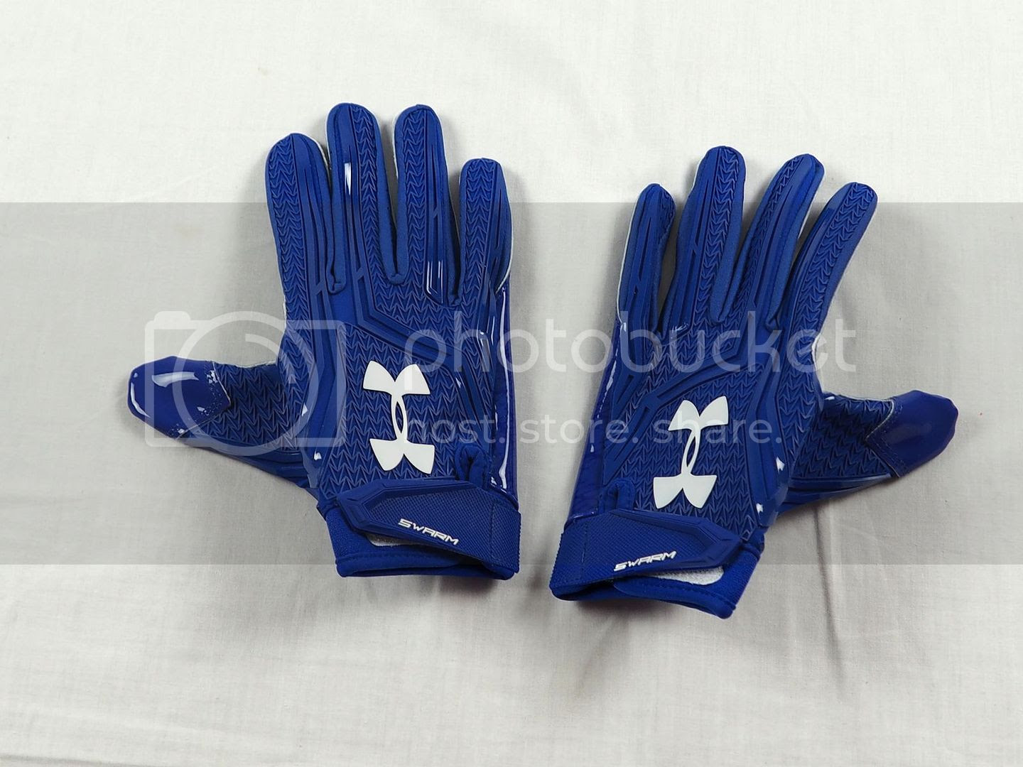 NEW Under Armour Swarm  Blue NFL Receiver Gloves L  eBay