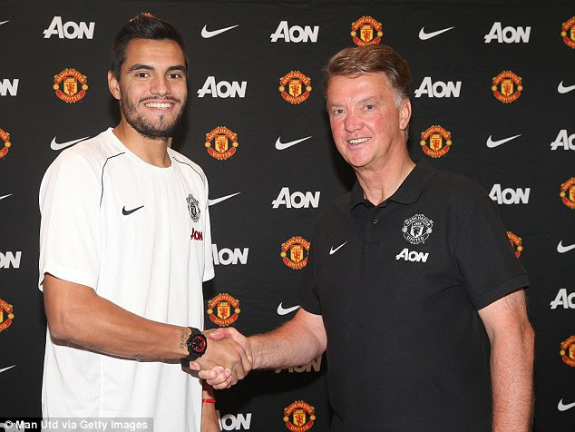 Romero worked with Louis van Gaal (right) at AZ Alkmaar and they won the Dutch league in 2009