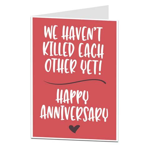 Anniversary Card We Haven't Killed Each Other Yet