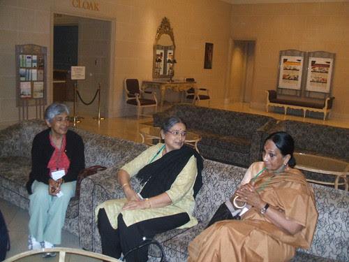 Chennai team chatting in the lobby by RabiCherian