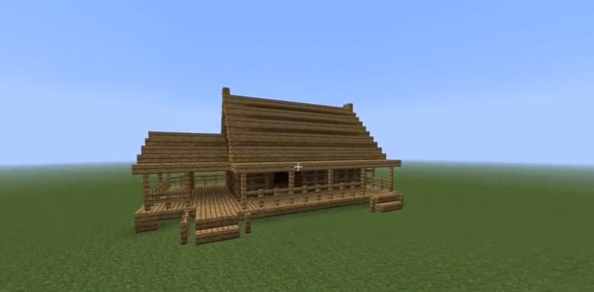 How to build a fast wooden house - Minecraft House Design