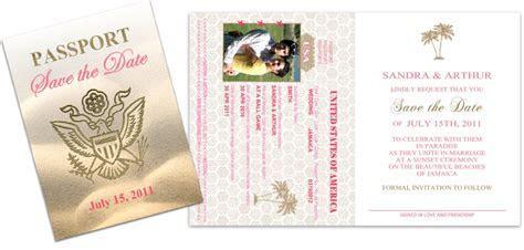 Passport 30, Wedding Save the Date   Custom Passport