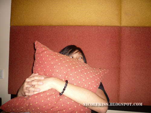 caryn and her pillow