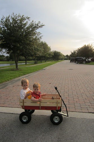 bros. in wagon