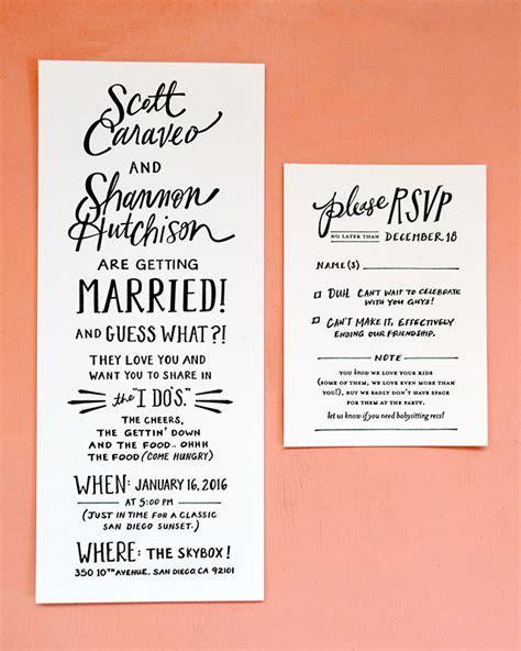 Hand Lettered San Diego Wedding Invitations