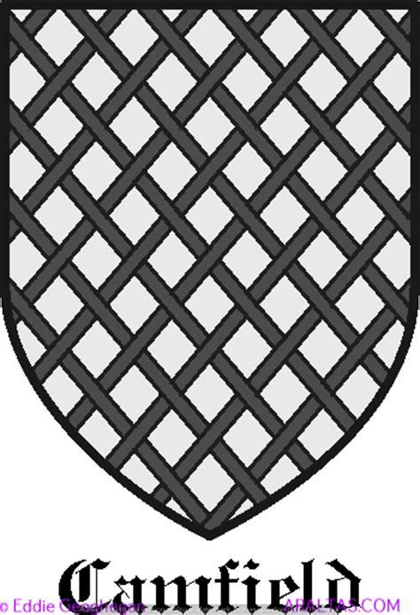 Camfield Canfield coat of arms, Camfield Canfield family