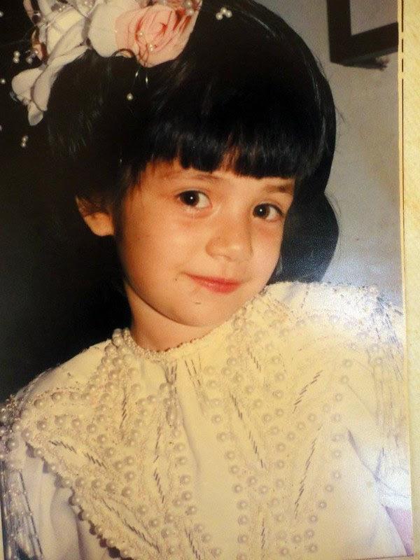 Anabel Angus cuando era niña