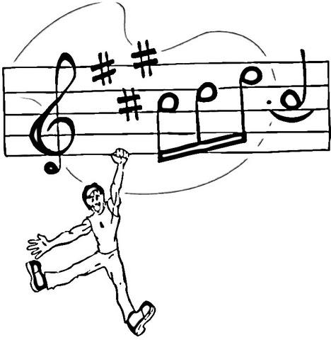 Dibujo De Sujetando Notas Musicales Para Colorear Dibujos Para