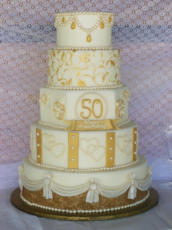 Golden Wedding Cake Decorations