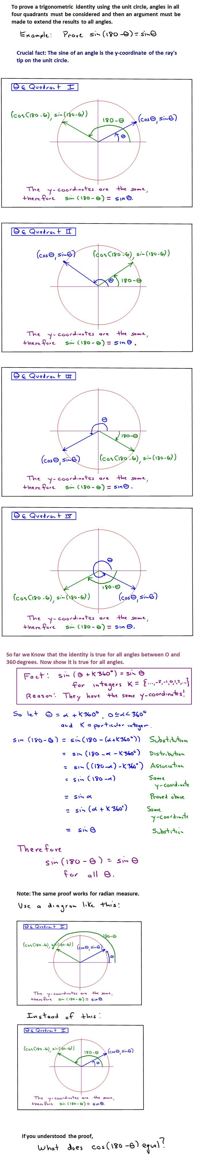 Proving Trigonometric Identities Using the Unit Circle – An ...