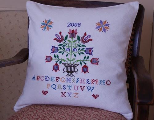 cross-stitch cushion