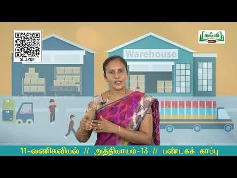 11th Commerce பண்டகக் காப்பு அலகு 3 அத்தியாயம் 13 Kalvi TV